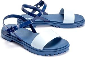 Niebieskie sandały Zaxy z płaską podeszwą w stylu casual