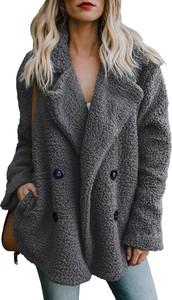 Brązowy płaszcz Elegrina w stylu casual z plaru