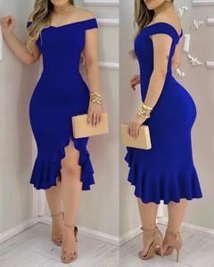 Sukienka Kendallme z okrągłym dekoltem z odkrytymi ramionami