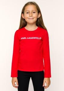 Czerwona bluzka dziecięca Karl Lagerfeld