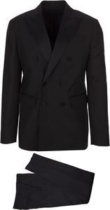Czarny garnitur Dsquared2 z wełny