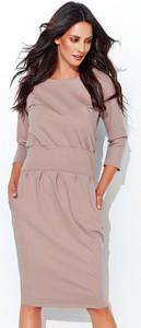 Sukienka Numinou z okrągłym dekoltem