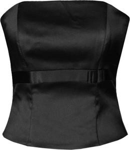 Czarna bluzka Fokus bez rękawów