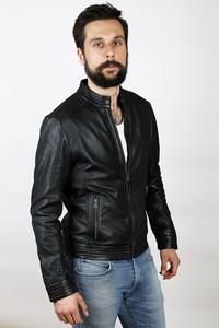 Czarna kurtka David Ryan ze skóry