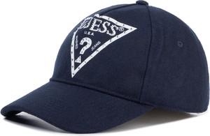 Niebieska czapka Guess