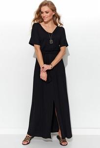Sukienka Numinou maxi z krótkim rękawem z dekoltem w kształcie litery v
