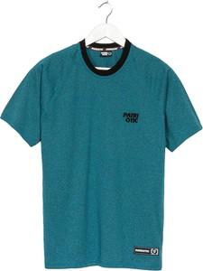 Niebieski t-shirt Patriotic w stylu casual z krótkim rękawem z bawełny