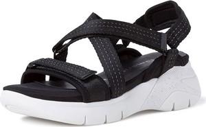 Sandały Tamaris na koturnie na rzepy w stylu casual