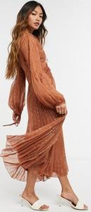 Sukienka Asos midi z szyfonu