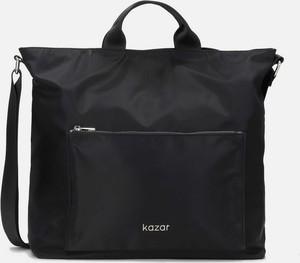 Czarna torebka Kazar w stylu glamour na ramię duża