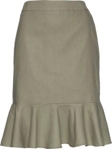 Zielona spódnica bonprix bpc selection z lnu