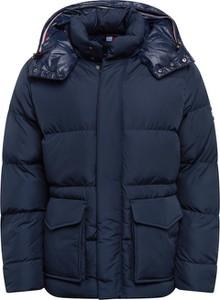Granatowa kurtka Tommy Hilfiger w stylu casual z tkaniny