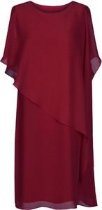 Sukienka Fokus z krótkim rękawem w stylu casual z okrągłym dekoltem