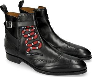 Czarne buty zimowe Melvin & Hamilton z klamrami