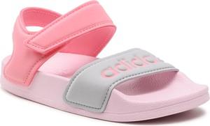Różowe buty dziecięce letnie Adidas dla dziewczynek na rzepy