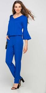 Niebieski kombinezon Lanti z długimi nogawkami