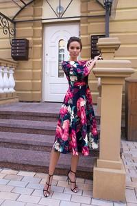 a2f4e5e6bf Sukienka Ivet.pl z długim rękawem midi