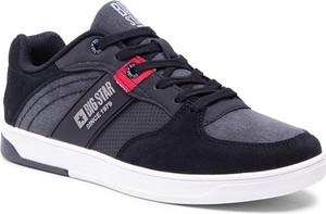 Czarne buty sportowe Big Star ze skóry ekologicznej