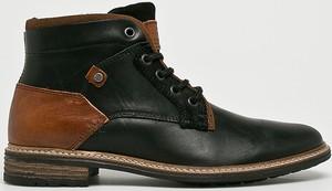Czarne buty zimowe Bullboxer