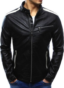 Dstreet kurtka męska skórzana czarna (tx2065)