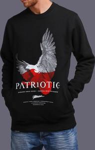 Czarna bluza Patriotic z żakardu