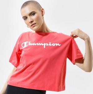 T-shirt Champion w sportowym stylu z okrągłym dekoltem z krótkim rękawem