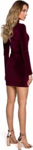 Czerwona sukienka MOE z weluru