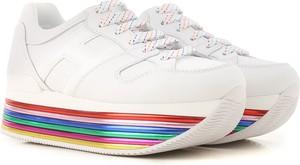 Buty sportowe Hogan na platformie sznurowane ze skóry