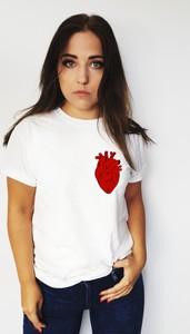 T-shirt Time For Fashion z bawełny z okrągłym dekoltem