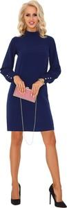 Niebieska sukienka MERRIBEL z długim rękawem
