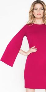 Sukienka Moda Dla Ciebie z długim rękawem z tkaniny mini