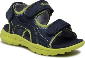 Granatowe buty dziecięce letnie Geox na rzepy dla chłopców