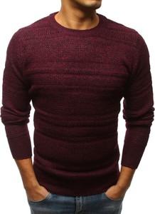 Czerwony sweter Dstreet w stylu casual