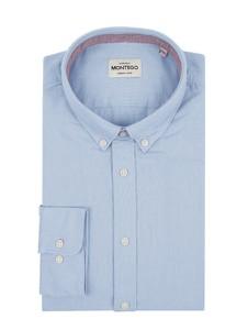 Koszula Montego z kołnierzykiem button down z długim rękawem z bawełny