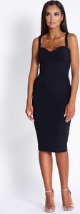 Czarna sukienka Dursi na ramiączkach