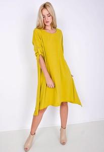 Sukienka Zoio z bawełny z okrągłym dekoltem oversize