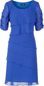 Sukienka Poza mini z okrągłym dekoltem