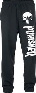 Czarne spodnie sportowe The Punisher z dresówki