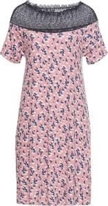 Różowa sukienka bonprix RAINBOW w stylu casual z krótkim rękawem