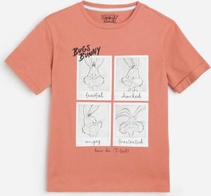 Różowa koszulka dziecięca Reserved dla chłopców