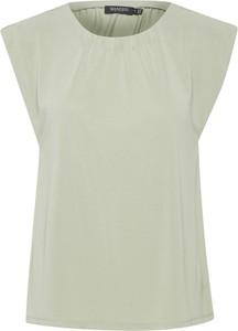 Zielona bluzka Soaked in Luxury z okrągłym dekoltem