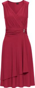 Czerwona sukienka bonprix BODYFLIRT kopertowa w stylu klasycznym