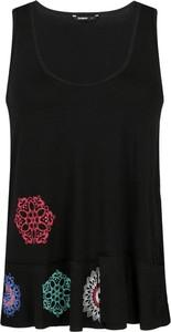 Czarna bluzka Desigual bez rękawów