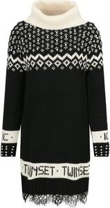 Czarna sukienka Twinset w stylu casual w stylu skandynawskim mini