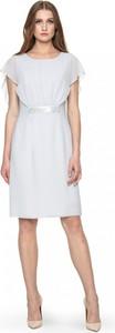Sukienka POTIS & VERSO z okrągłym dekoltem w stylu glamour