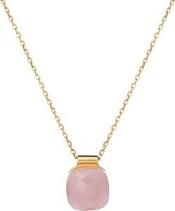 ANIA KRUK Naszynik VENUS srebrny pozłacany z różowym kryształem