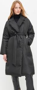 Czarny płaszcz Reserved w stylu casual