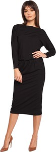 Czarna sukienka Be dopasowana midi