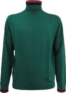Zielony sweter Sun 68 z bawełny