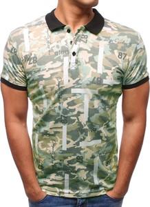 Zielona koszulka polo Dstreet z bawełny